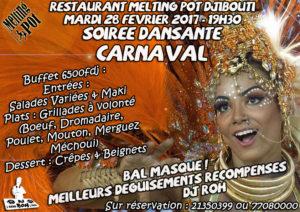 Soirée Carnaval Bal Masqué Dansante animée par Dj Roh pour Mardi Gras le 28 Février 2017